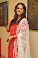 Anasuya Bharadwaj in Red at Kalamandir Foundation 7th anniversary Celebrations ~  Actress Galleries 053.JPG