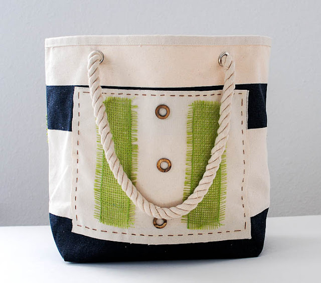 Hip embellished tote bags