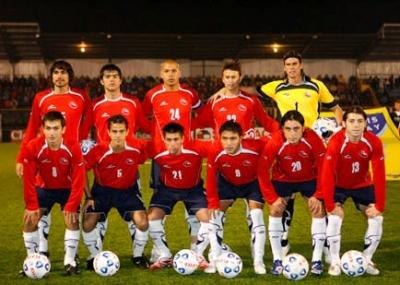 Formación de Chile ante Cuba, amistoso disputado el 9 de mayo de 2007