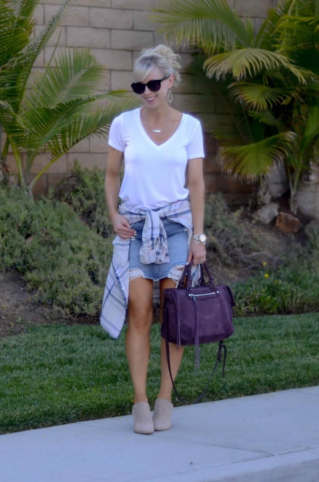 13be952fdb Plaid Shirt, Denim Skirt + September Update   On the Daily ...