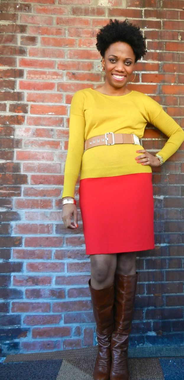 Restyling a Bold Red Dress