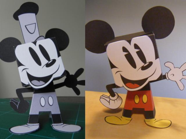 Mickey Mouse Paper Toys Tektonten Papercraft
