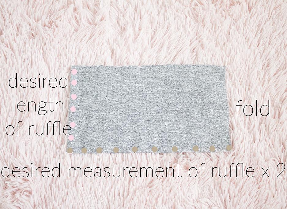 ruffle shoulder sweater refashion ruffle piece tutorial image