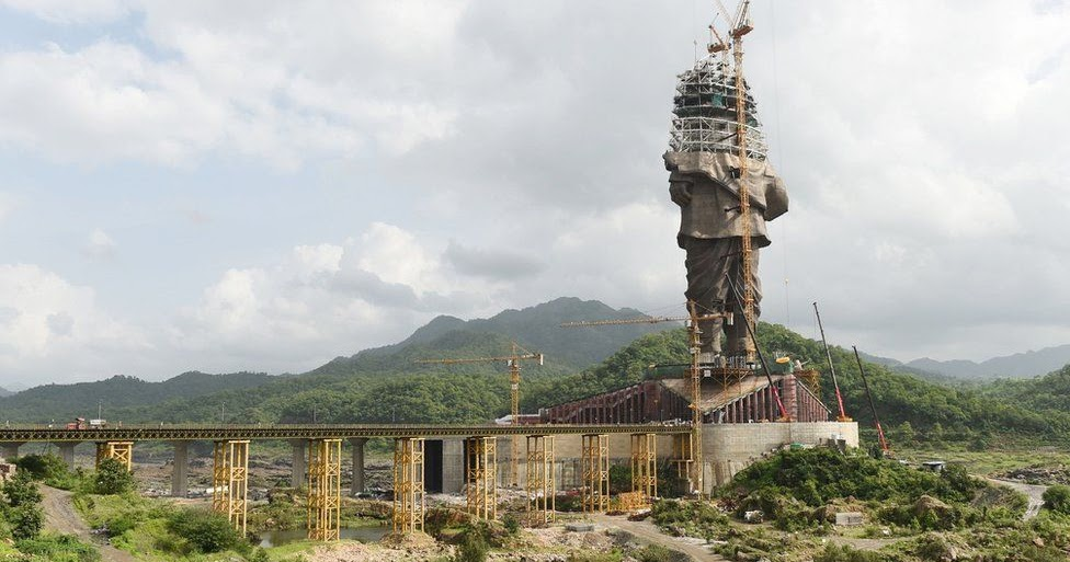 Tallest statue in the world takes shape in India