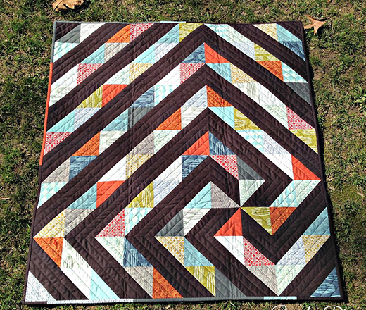 Twisted Path Quilt Free Tutorial