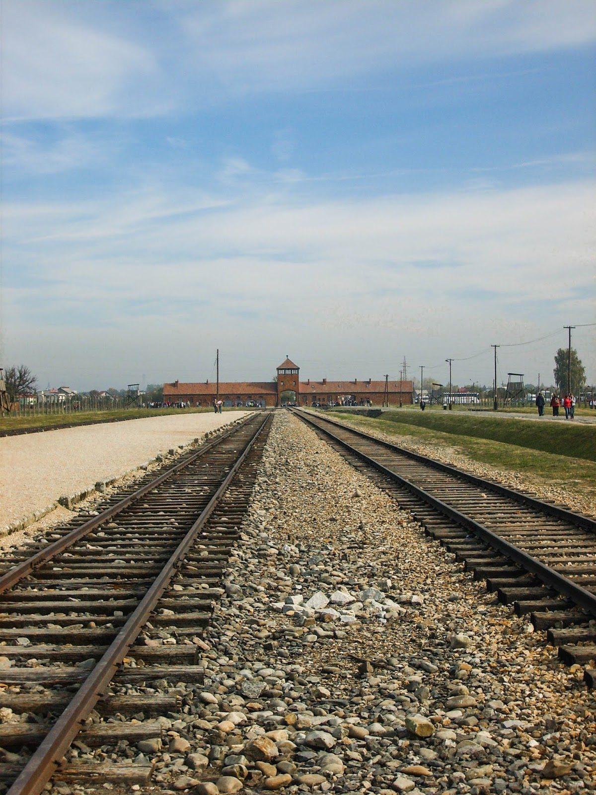 Rail track towards Auschwitz