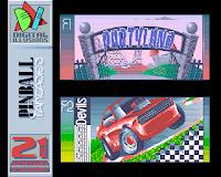 Captura de pantalla de Pinball Fantasies: Pulsar F1 o F2 para seleccionar Pinball Party Land o Devils