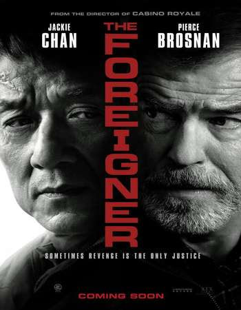 Poster Of The Foreigner In Dual Audio Hindi English 300MB Compressed Small Size Pc Movie Free Download Only At worldfree4u.com