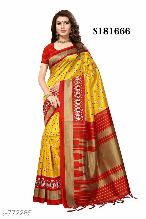 Stylish Mysore Silk Printed Sarees