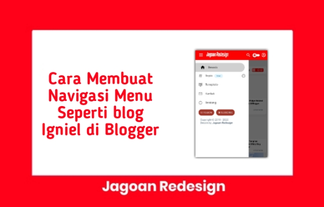 Cara Membuat Navigasi Menu Seperti blog Igniel di Blogger
