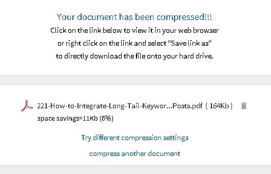 compress PDF berhasil