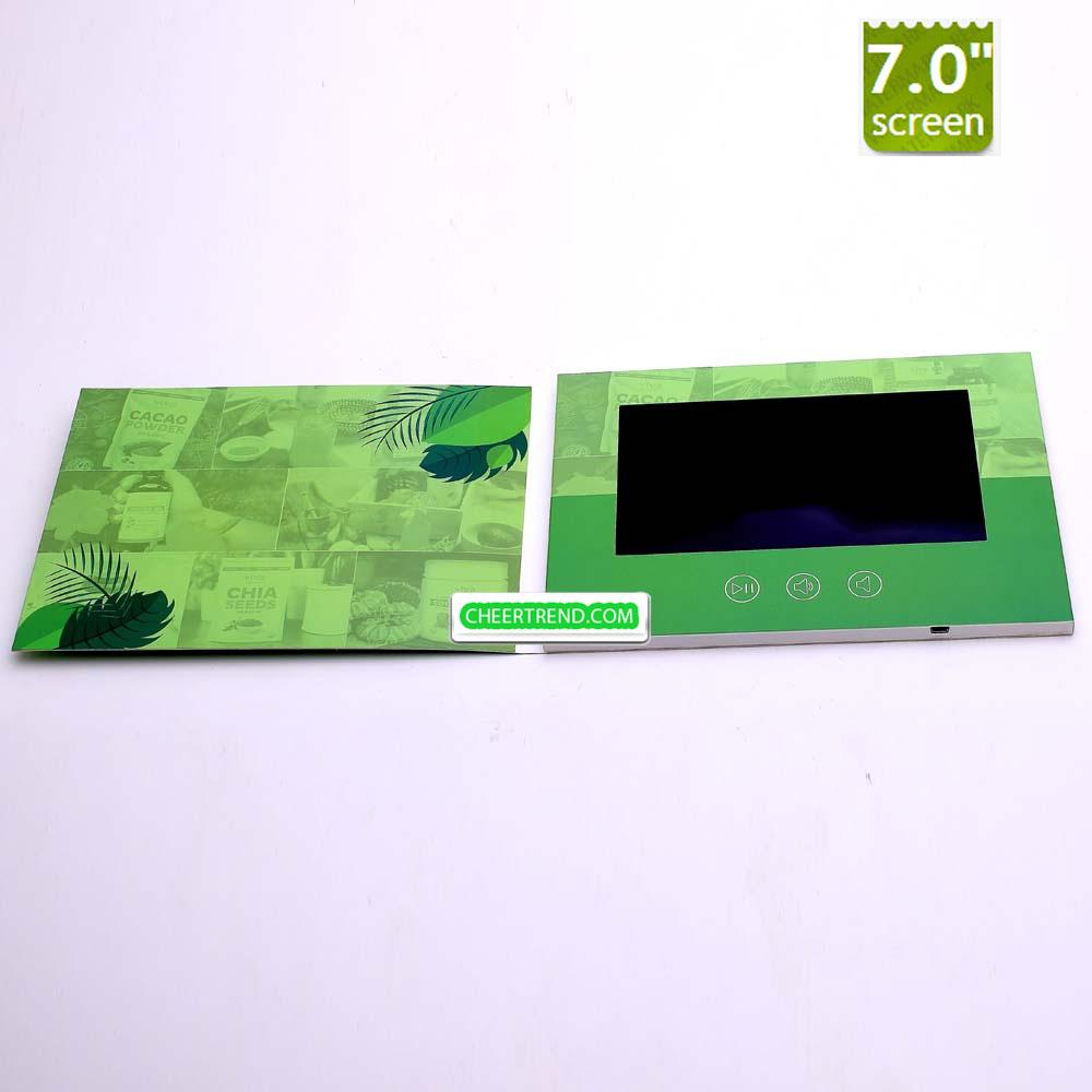 Video Brochure Video Greeting Card 7 Inch High Quality Lcd Video