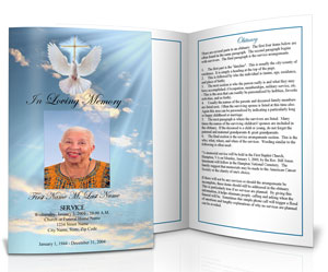 Funeral Program Template For A Friend  Funeral Pamphlet Template Free