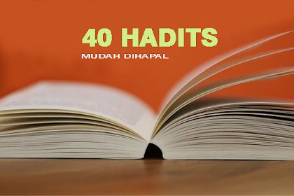 40 Hadits Pendek yang Mudah Dihafal Arab dan Terjemahnya