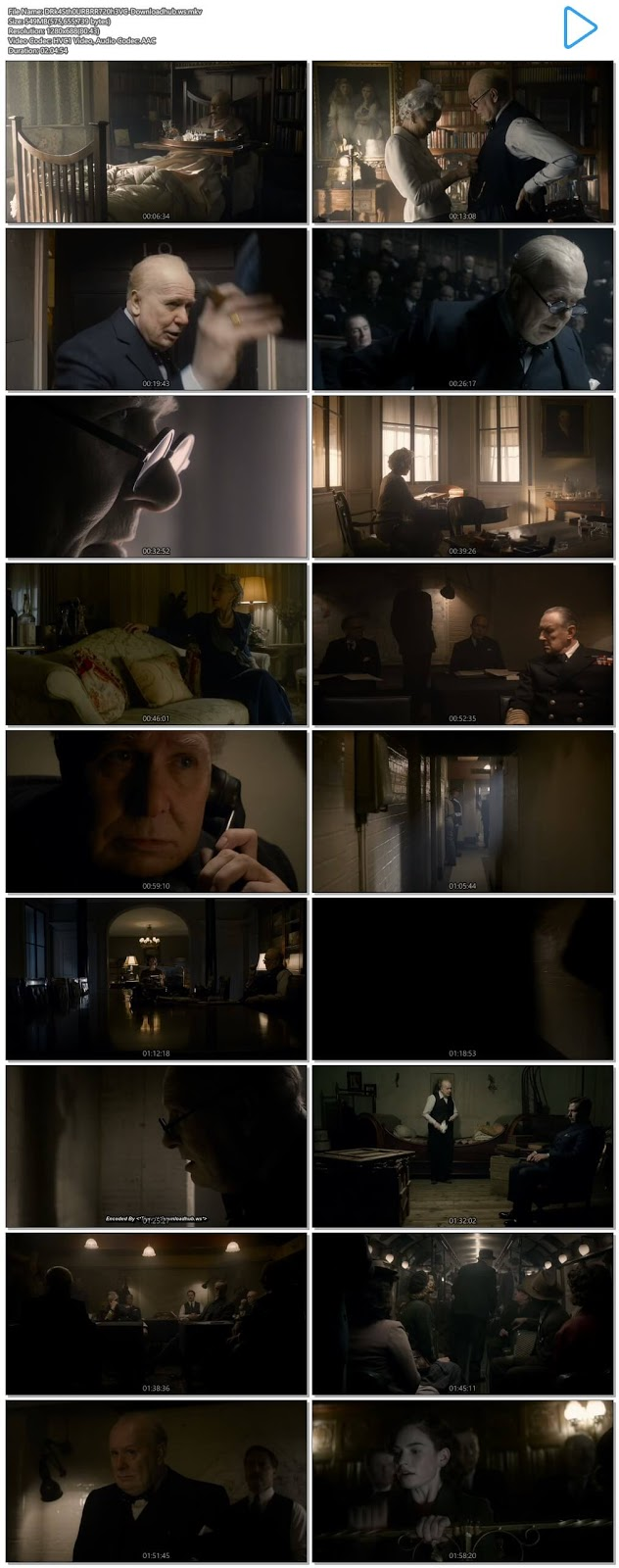 Darkest Hour 2017 English 720p HEVC BRRip ESubs