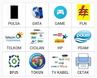 PRODUK KH PULSA DATA GAME PLN TELKOM CICILAN HP PDAM BPJS TOKEN TV KABEL CETAK