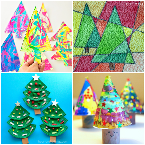break out the paint to decorate your trees using this simple technique from hello wonderful - Large Cardboard Christmas Decorations