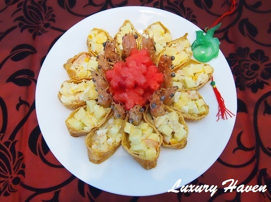 chinese new year laughing prawns salad recipe