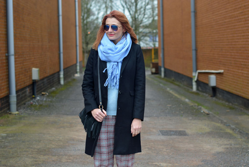 Styling a classic black wool coat | with pattern, colour and texture | Not Dressed As Lamb