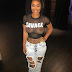 Meghan James, Former Basketball Wives reality star goes braless at Chris Brown's 'Party tour' show