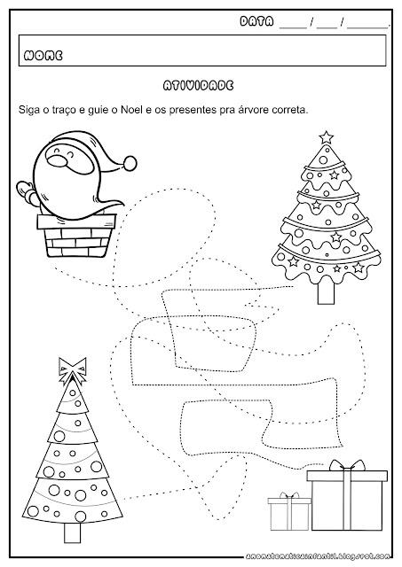 Coordenação Motora Pontilhado Natal