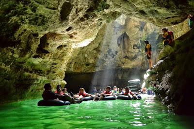 Lokasi Tempat Wisata Yogyakarta Goa Pindul di Jogja Gunung Kidul