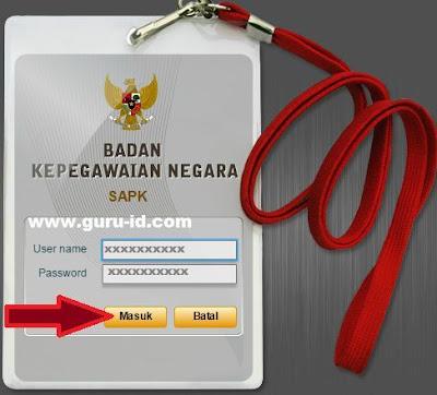 gambar cara login aplikasi sapk BKN go id