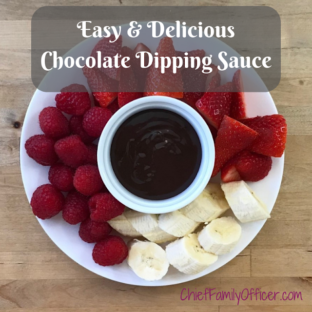 Easy & Delicious Chocolate Dipping Sauce