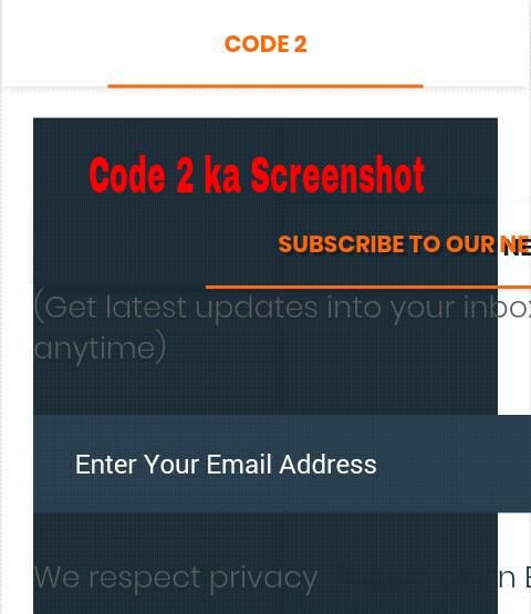 Code 2 Screenshot