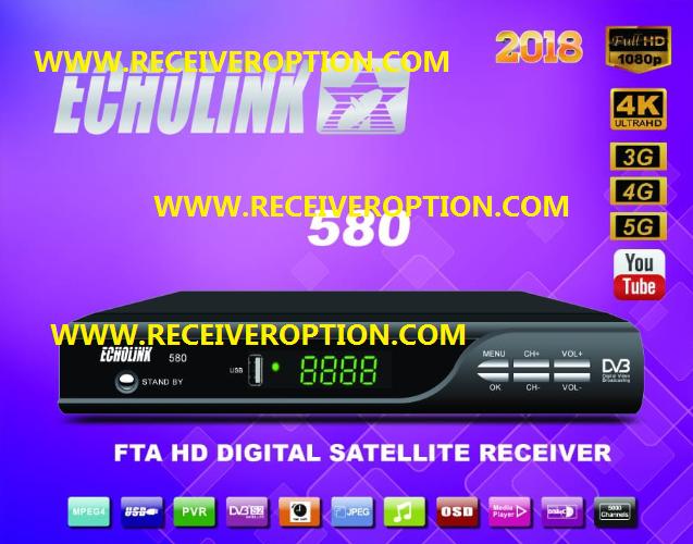 ECHOLINK 580 2018 HD RECEIVER POWERVU KEY NEW SOFTWARE