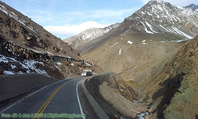 Parte do trajeto da travessia dos Andes