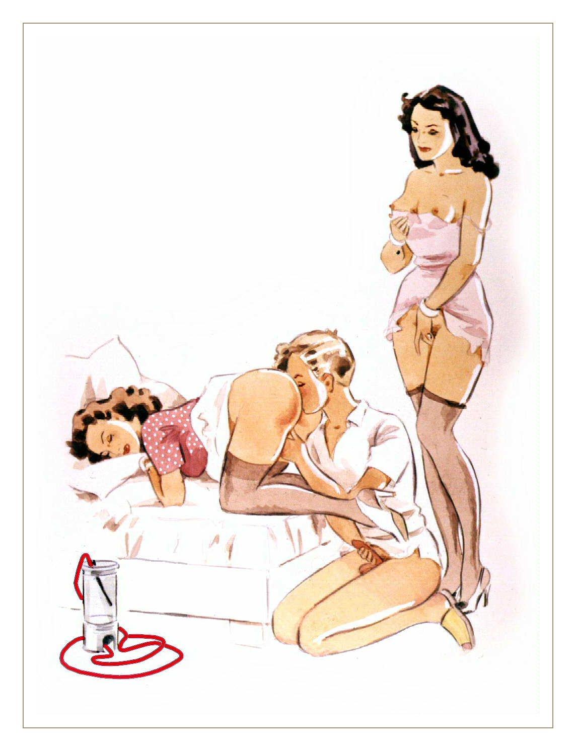 Клизма рисованое порно