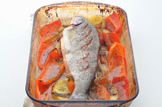 Baked Trout with Roasted Red Peppers ~ Simple Food