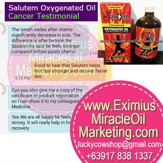 Salutem Oil Cancer Testimonial Stronger Compare To Purely Chemo
