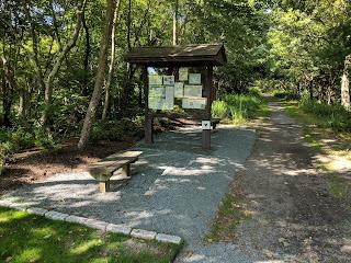 enhanced entrance to the SNETT trail on Grove St