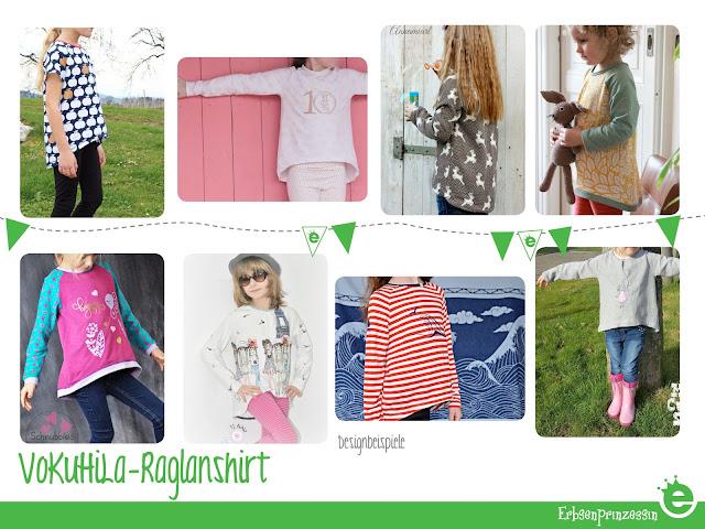 VoKuHiLa-Raglanshirt für Mädchen und Jungs selbernähen: Schnitt / e-Book mit Anleitung