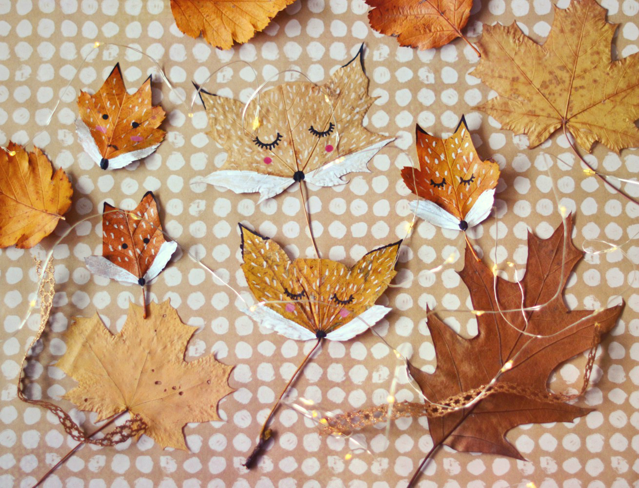 DIY: lisy z jesiennych liści