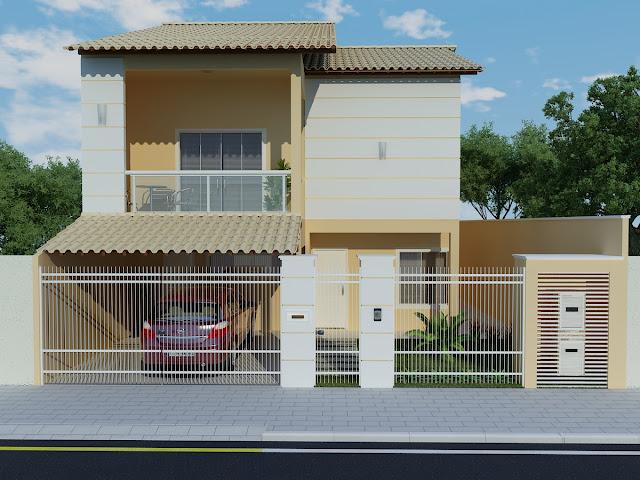 Construindo minha casa clean projeto da minha fachada com for Aberturas para casas modernas
