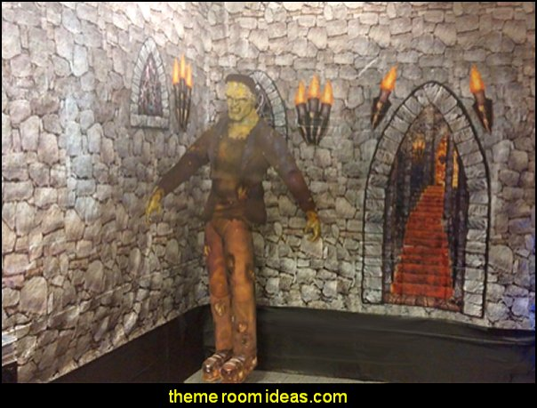 Dungeon Decor halloween decorating Dungeon wallpaper halloween decor