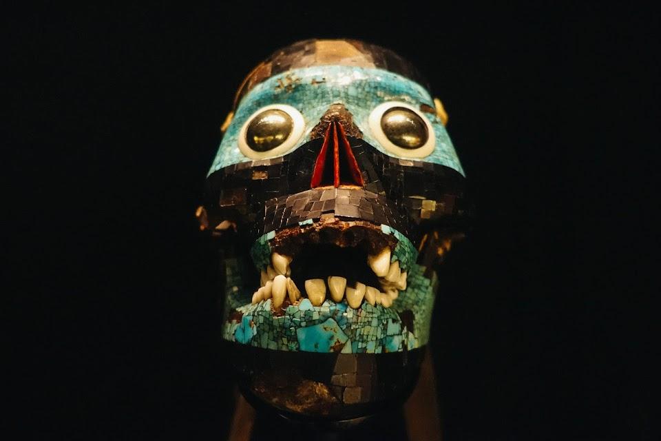 テスカトリポカのモザイクマスク(Mosaic mask of Tezcatlipoca)