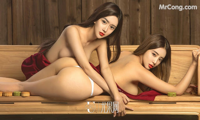Hot girls Chinese Moon cakes and two big tits girls 15