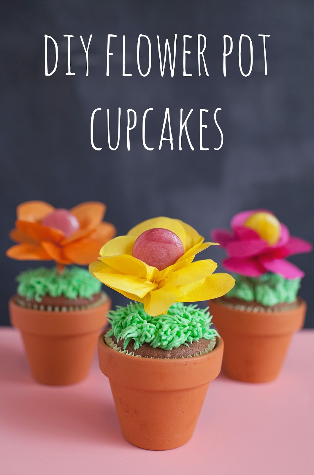 276 & TELL: SPRING FLOWER POT CUPCAKES - Tell Love and Party