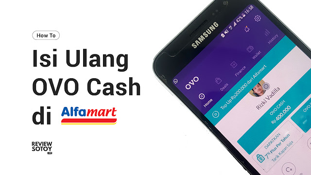 cara isi ulang top up saldo ovo cash di alfamart