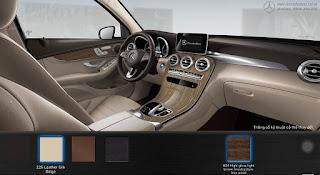 Nội thất Mercedes GLC 200 2019 màu Vàng Silk 105