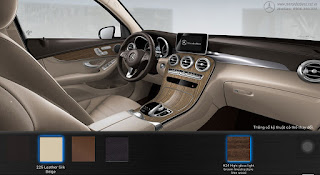 Nội thất Mercedes GLC 300 4MATIC Coupe 2017 màu Vàng Silk 225