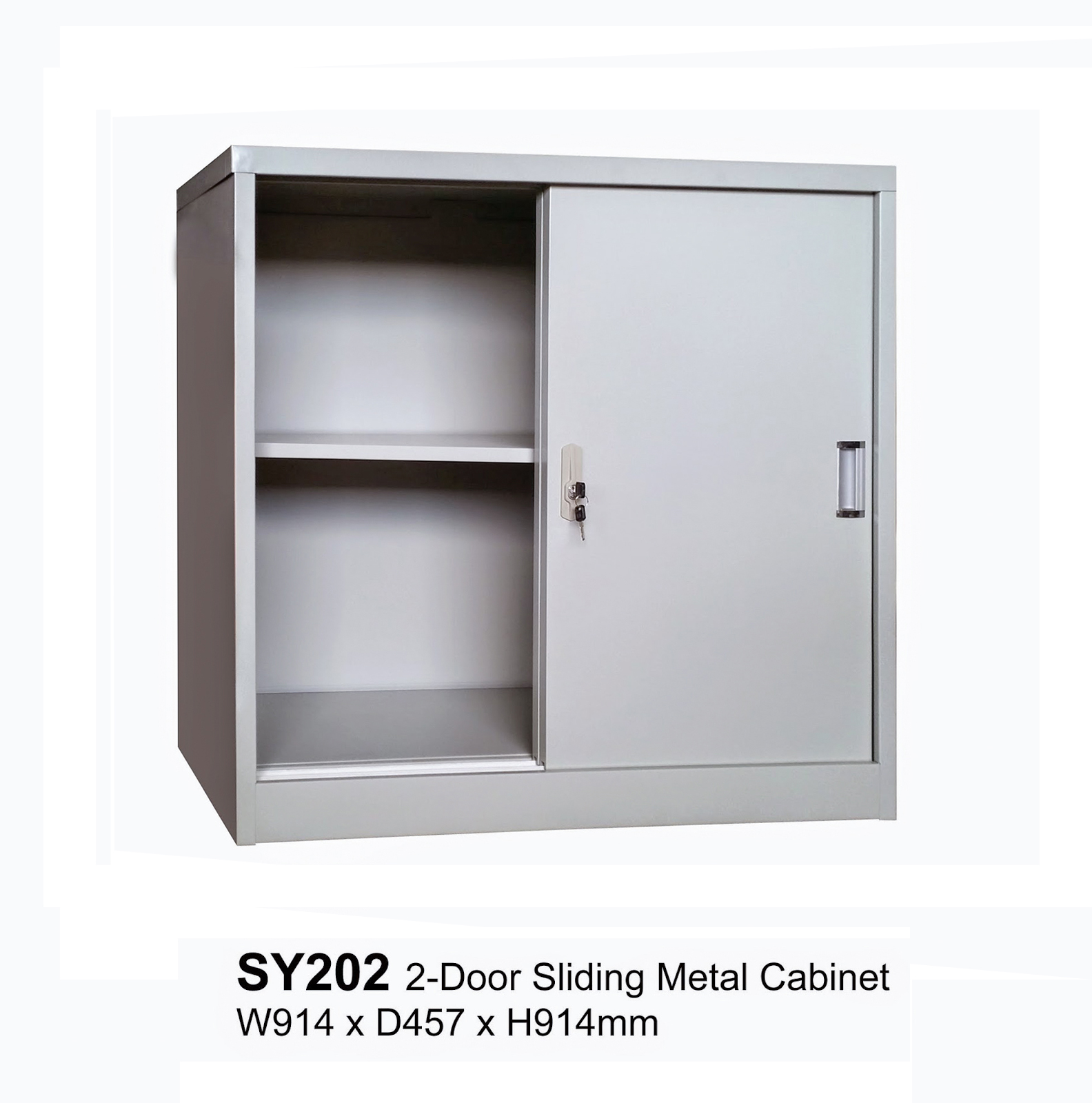 Sy202 Sliding Door Half Height Metal Cabinet 180 Ready Stock All The Price Subject To Gst 7 Delivery 30 Trip If Your Purchase Less Than 1000