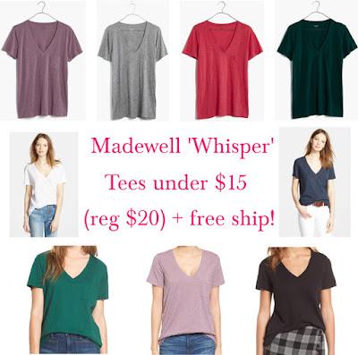 Madewell 'Whisper' Cotton V-Neck tee