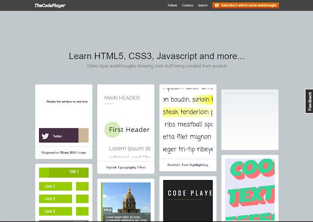 أفضل موقع للحصول علي اكواد وتاثيرات برمجية لمطوري الويب