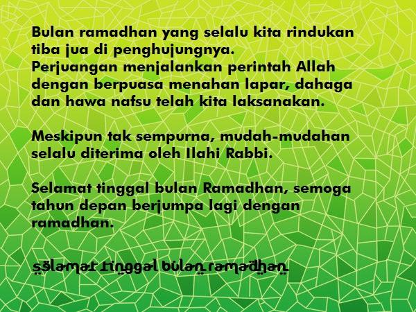 Kata Ucapan Selamat Tinggal Bulan Ramadhan 1438 H 2017 M