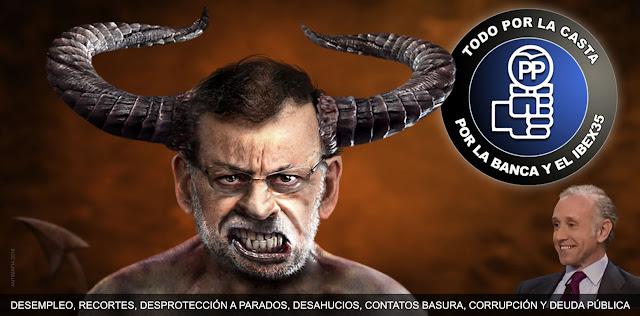 PP, PSOE, TERTULIANOS Y PSEUDOPERIODISTAS son los envenenadores de la campaña contra el pueblo (Que no contra PODEMOS o IGLESIAS), deberán estar contentos con el estado veleidoso en que han colocado a ciertos votantes. Habia que embaucar DESDE LA IDEOLOGÍA CORRUPTA DE LOS DEL RÉGIMEN, y ya tienen mas embaucados de los que pretendían.